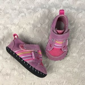 Pediped Pink Baby Girl Shoes Size 0-6 Months